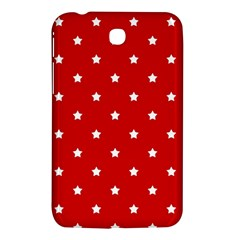 White Stars On Red Samsung Galaxy Tab 3 (7 ) P3200 Hardshell Case  by StuffOrSomething