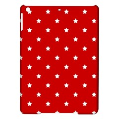 White Stars On Red Apple iPad Air Hardshell Case by StuffOrSomething