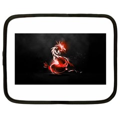 Abstract Red Dragon  Netbook Sleeve (xxl) by TribalStore