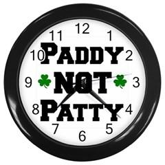 Paddynotpatty Wall Clock (black)