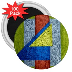Abstract 3  Button Magnet (100 Pack) by Siebenhuehner