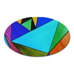 Abstract Magnet (oval) by Siebenhuehner