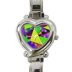 Abstract Heart Italian Charm Watch  by Siebenhuehner