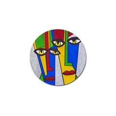 Face Golf Ball Marker 4 Pack
