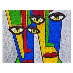 Face Jigsaw Puzzle (rectangle) by Siebenhuehner