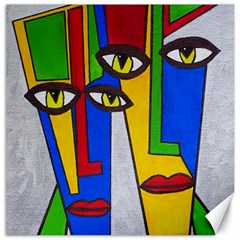 Face Canvas 16  X 16  (unframed) by Siebenhuehner