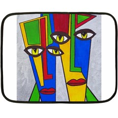 Face Mini Fleece Blanket (two Sided) by Siebenhuehner