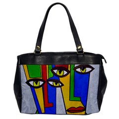 Face Oversize Office Handbag (one Side)