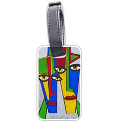 Face Luggage Tag (one Side) by Siebenhuehner