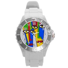 Face Plastic Sport Watch (large) by Siebenhuehner