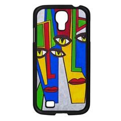 Face Samsung Galaxy S4 I9500/ I9505 Case (black) by Siebenhuehner