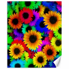 Colorful Sunflowers Canvas 16  X 20  (unframed) by StuffOrSomething