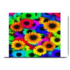 Colorful Sunflowers Large Door Mat by StuffOrSomething