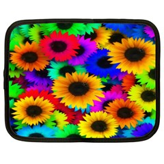 Colorful Sunflowers Netbook Sleeve (XXL) by StuffOrSomething