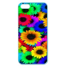 Colorful Sunflowers Apple Seamless Iphone 5 Case (color) by StuffOrSomething