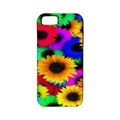 Colorful Sunflowers Apple Iphone 5 Classic Hardshell Case (pc+silicone) by StuffOrSomething