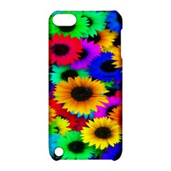 Colorful Sunflowers Apple Ipod Touch 5 Hardshell Case With Stand by StuffOrSomething