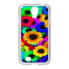 Colorful Sunflowers Samsung Galaxy S4 I9500/ I9505 Case (white) by StuffOrSomething