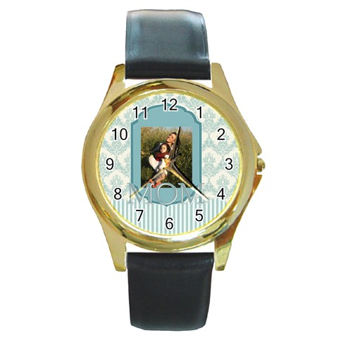 Mothers Day By Mom   Round Gold Metal Watch   1h5f68v9altx   Www Artscow Com Front