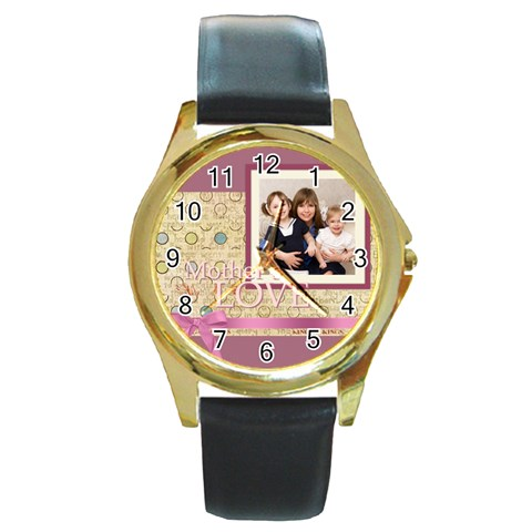 Mothers Day By Mom   Round Gold Metal Watch   Xh52rjmed5zn   Www Artscow Com Front
