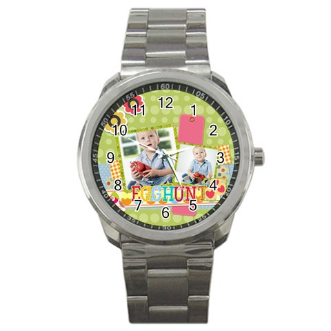 Easter By Easter   Sport Metal Watch   335wixzmw7po   Www Artscow Com Front