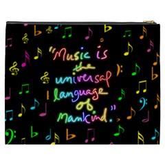 Music Xxxl Cosmetic Bag By Joy Johns   Cosmetic Bag (xxxl)   R2j40petay1e   Www Artscow Com Back