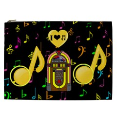 Music Xxl Cosmetic Bag By Joy Johns   Cosmetic Bag (xxl)   4srxd1hbfuxx   Www Artscow Com Front