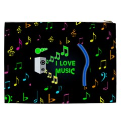 Music Xxl Cosmetic Bag By Joy Johns   Cosmetic Bag (xxl)   4srxd1hbfuxx   Www Artscow Com Back