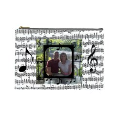 Music Large Cosmetic Bag By Joy Johns   Cosmetic Bag (large)   Blli02x491yv   Www Artscow Com Front