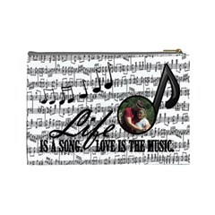 Music Large Cosmetic Bag By Joy Johns   Cosmetic Bag (large)   Blli02x491yv   Www Artscow Com Back