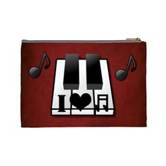 Music  Large Cosmetic Bag #3 By Joy Johns   Cosmetic Bag (large)   Dk3m4e895eld   Www Artscow Com Back