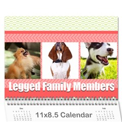 Dog By Pet    Wall Calendar 11  X 8 5  (18 Months)   Fux39fp3v17c   Www Artscow Com Cover