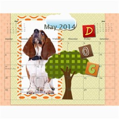 Dog By Pet    Wall Calendar 11  X 8 5  (18 Months)   Fux39fp3v17c   Www Artscow Com May 2014