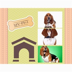 Dog By Pet    Wall Calendar 11  X 8 5  (18 Months)   Fux39fp3v17c   Www Artscow Com Month