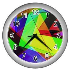 Moderne Wall Clock (silver) by Siebenhuehner