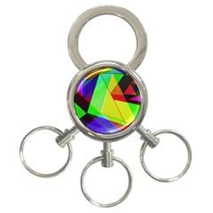 Moderne 3 Ring Key Chain by Siebenhuehner