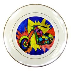 Chopper Porcelain Display Plate
