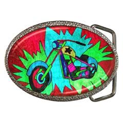 Chopper Belt Buckle (oval)