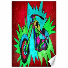 Chopper Canvas 12  X 18  (unframed) by Siebenhuehner