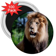 Regal Lion 3  Button Magnet (100 Pack) by AnimalLover