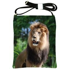 Regal Lion Shoulder Sling Bag by AnimalLover