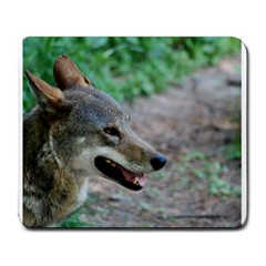 Red Wolf Large Mouse Pad (rectangle) by AnimalLover