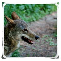 Red Wolf Large Cushion Case (two Sides) by AnimalLover