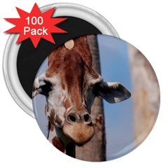 Cute Giraffe 3  Button Magnet (100 Pack) by AnimalLover