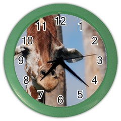 Cute Giraffe Wall Clock (color) by AnimalLover
