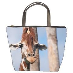 Cute Giraffe Bucket Handbag by AnimalLover