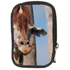 Cute Giraffe Compact Camera Leather Case by AnimalLover