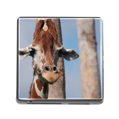 Cute Giraffe Memory Card Reader With Storage (square) by AnimalLover