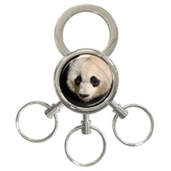 Adorable Panda 3 Ring Key Chain by AnimalLover