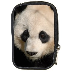 Adorable Panda Compact Camera Leather Case by AnimalLover